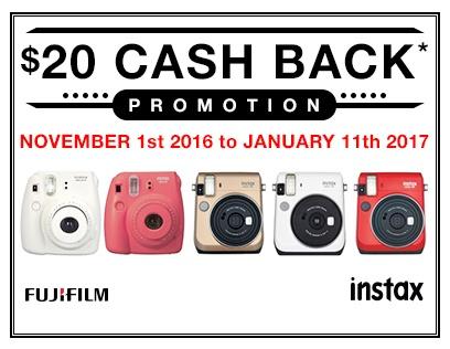 Fujifilm Instax Cash Back