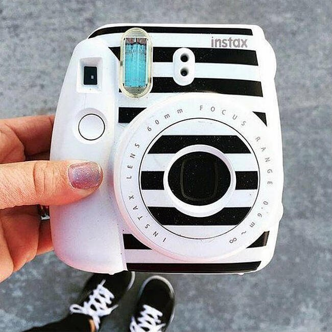 decorating instax with stickers