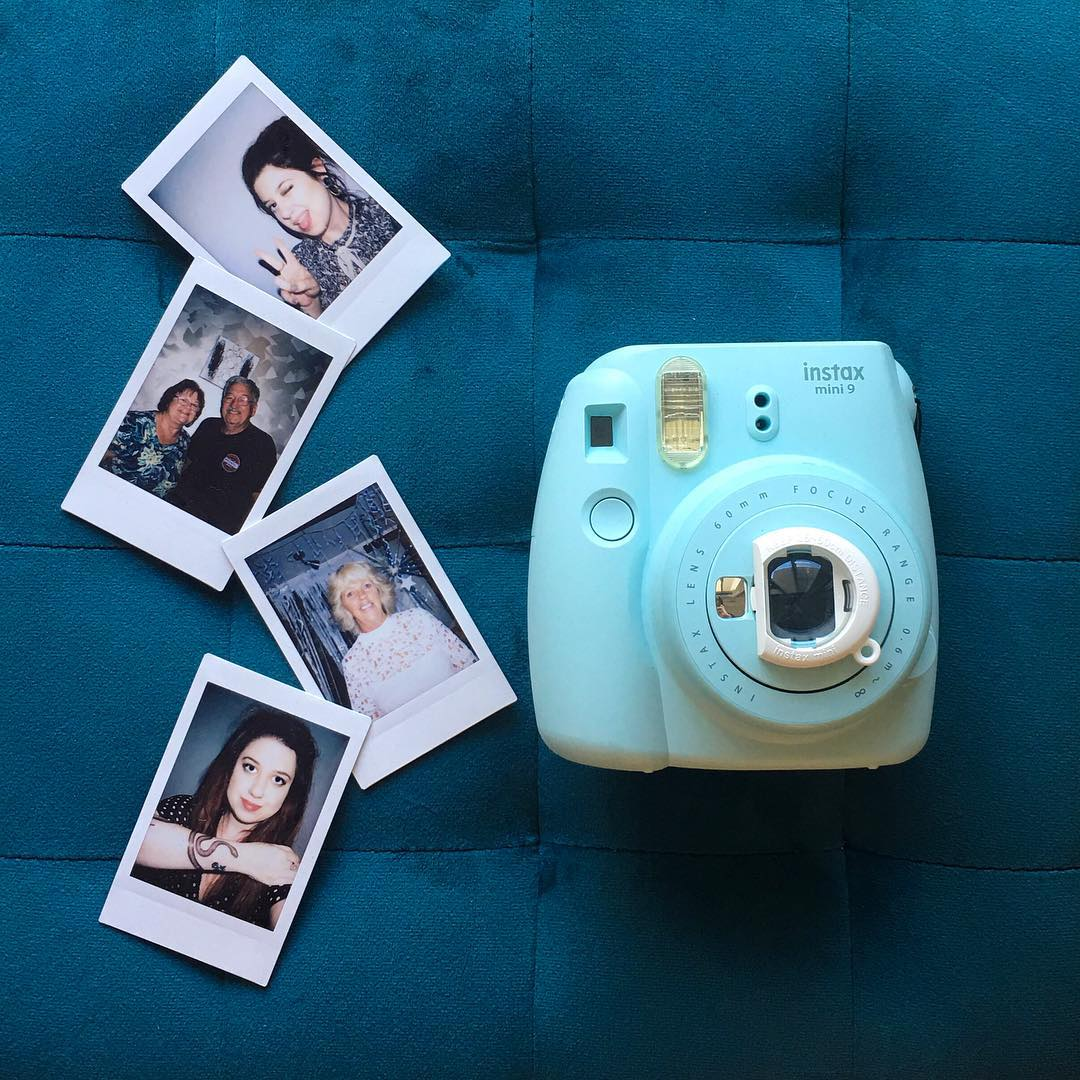 instax mini 9 with lens attachment